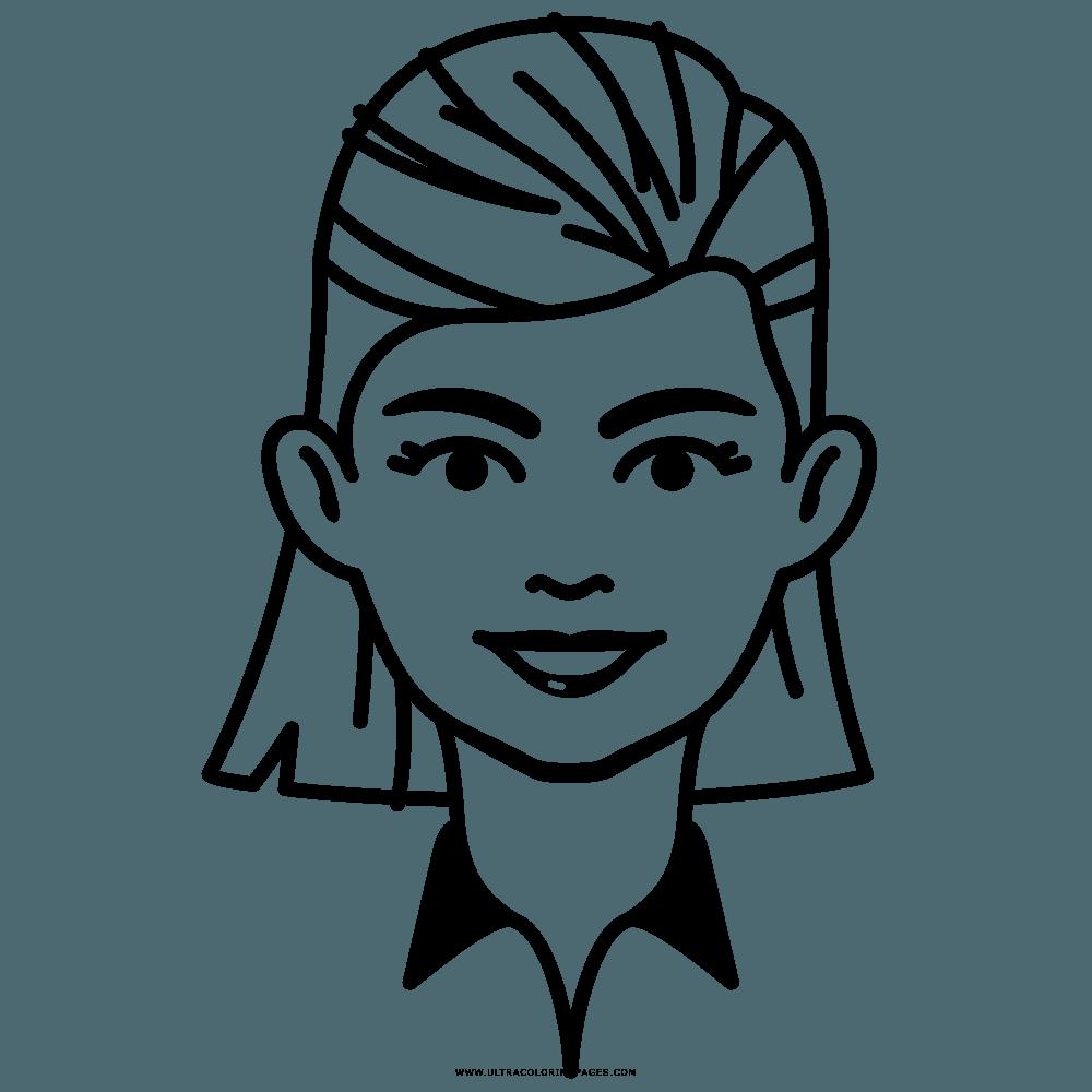 Mujer Para Colorear