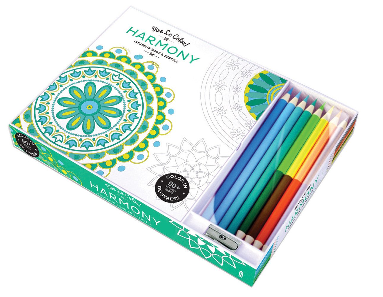Vive Le Color! Harmony (adult Coloring Book And Pencils)  Color