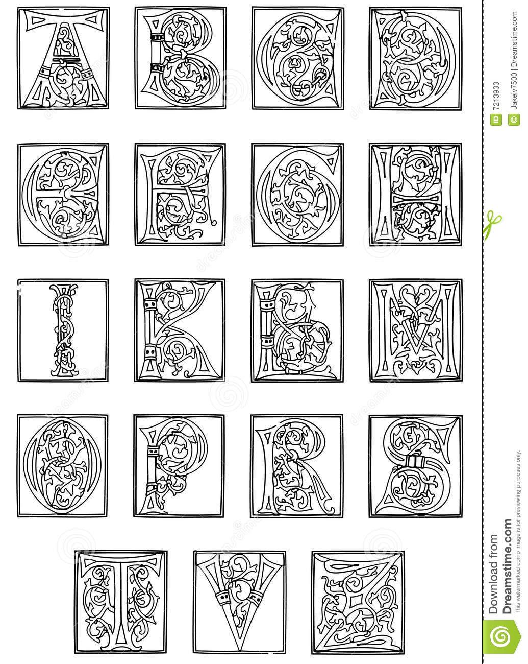 Image Result For Examples Of Illuminated Capital Letters