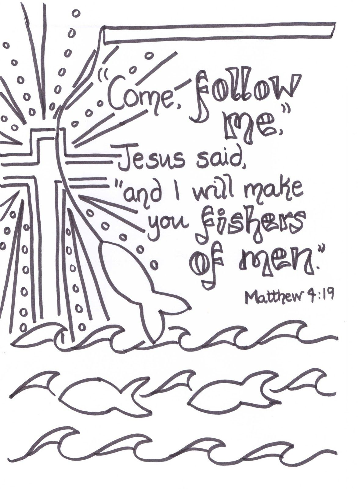 Flame  Creative Children's Ministry  Fishers Of Men Verse To