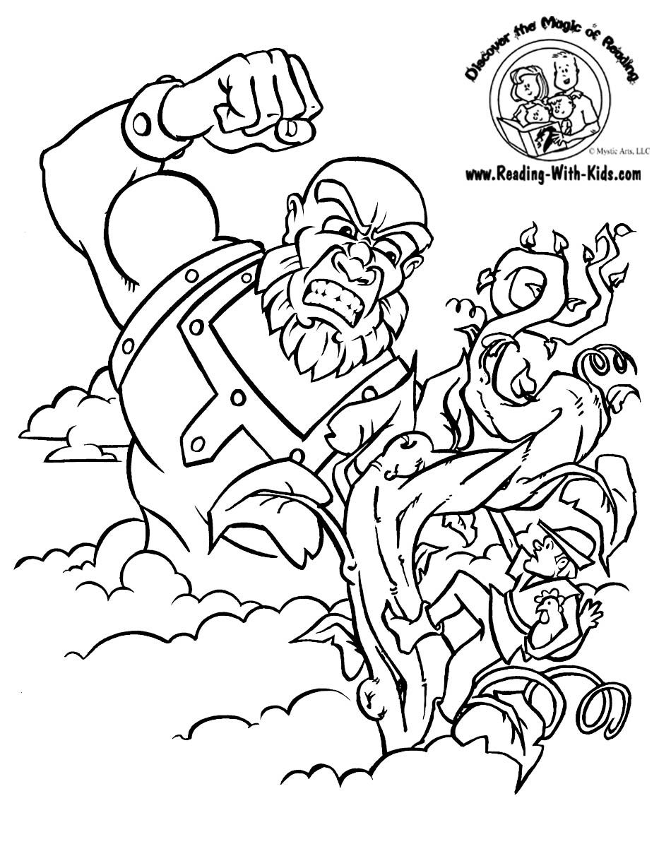 Jack And The Beanstalk Coloring Sheet  Fairytale  Fairytales