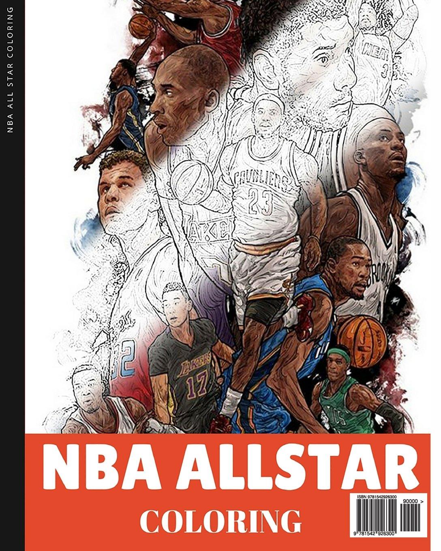 Amazon Com  Nba Allstar Coloring Book  Basketball Coloring For