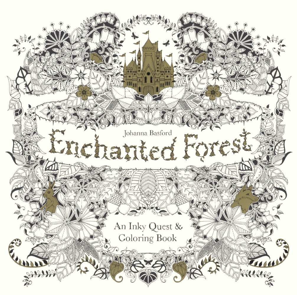 Enchanted Forest  An Inky Quest And Coloring Book (turtleback