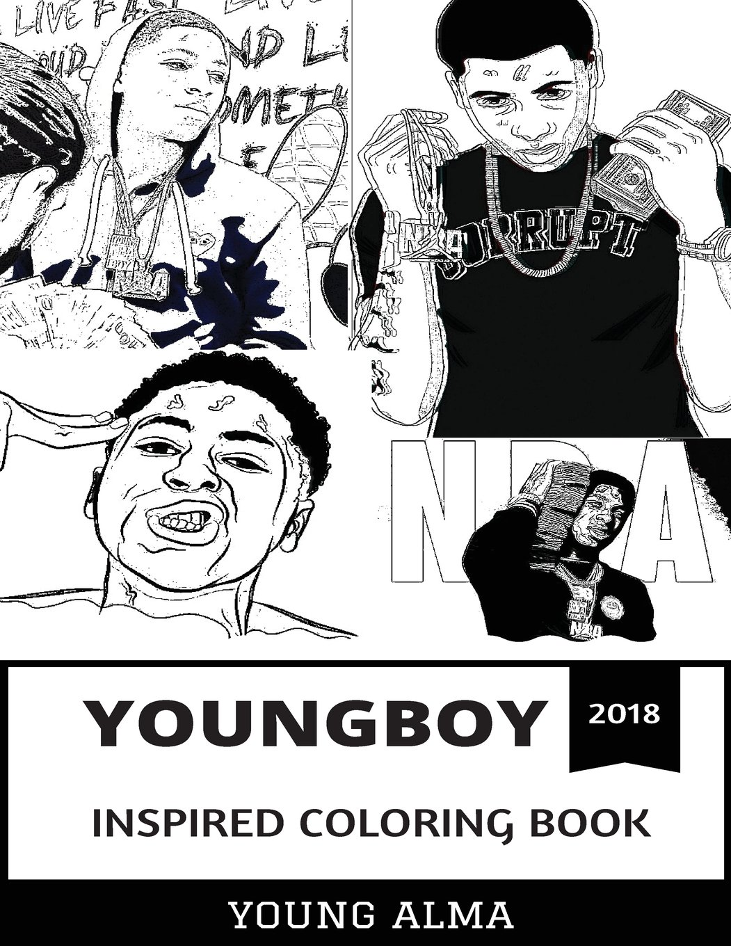 Youngboy Inspired Coloring Book  Rap Prodigy And Mainstream