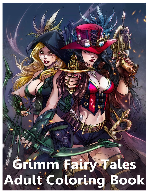 Grimm Fairy Tales Adult Coloring Book  Samuel Eleyinte