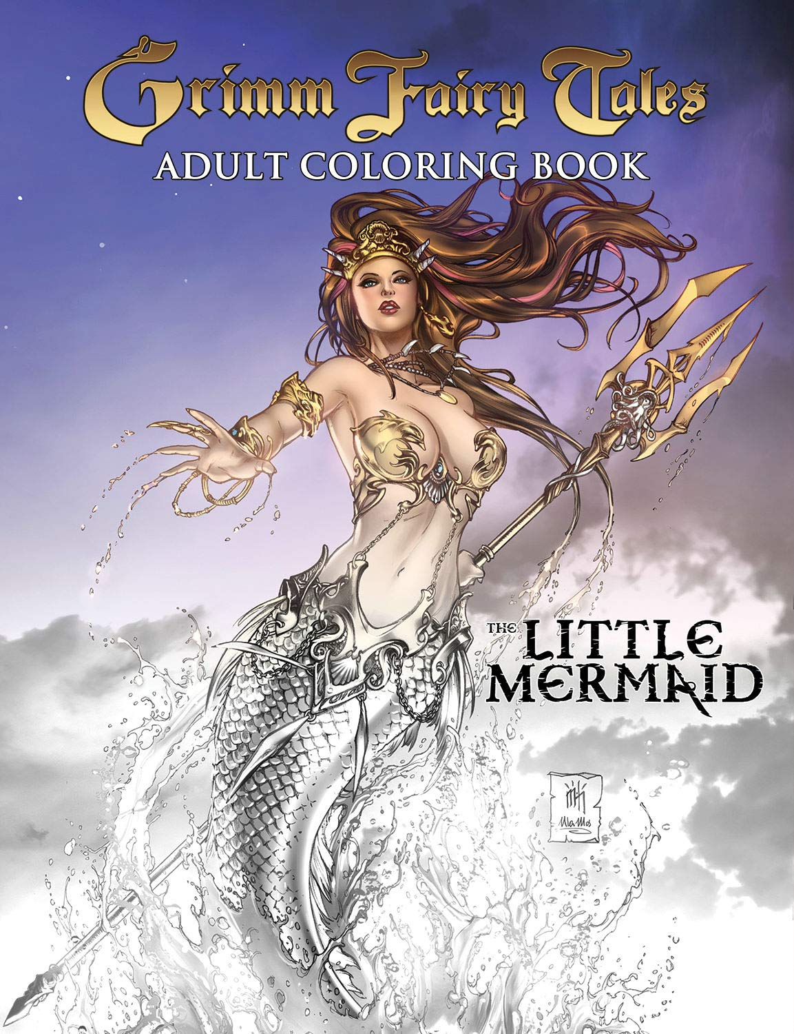 Grimm Fairy Tales Adult Coloring Book The Little Mermaid  Meredith