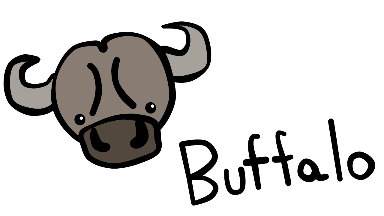 Cute And Quick 2 0  How To Draw A Buffalo