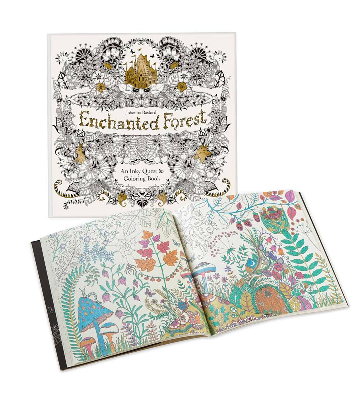 Enchanted Forest  An Inky Quest&coloring Book