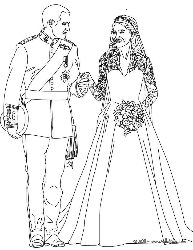 The Royal Wedding Coloring Page, More Kate And William Content On