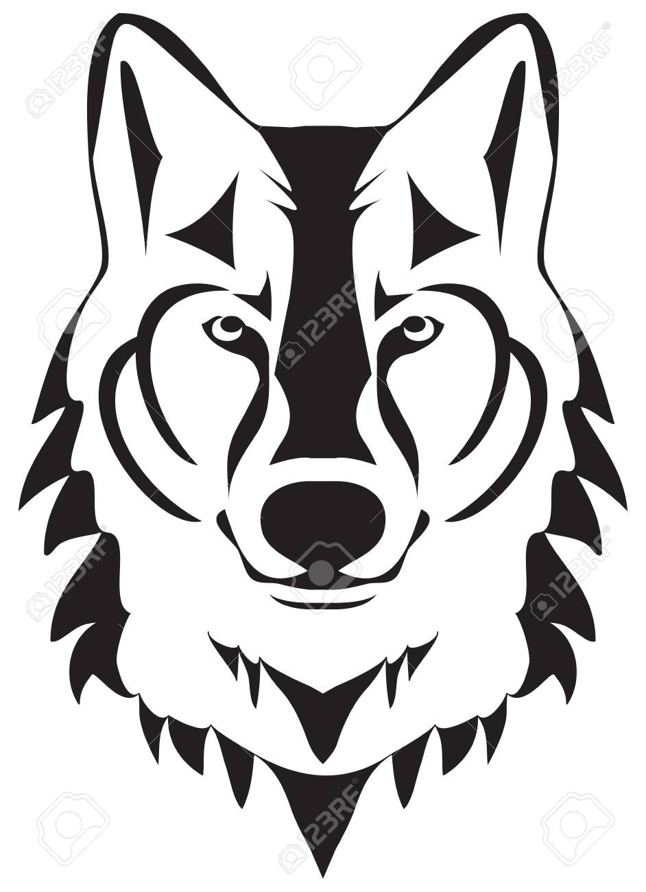 Wolf Head Silhouette Vector Illustration  Royalty Free Cliparts