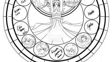 Stained Glass Coloring Sheet