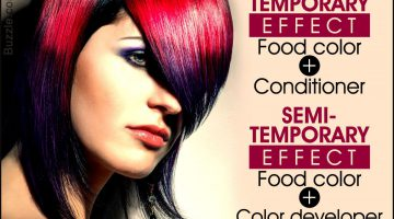 How To Color Your Hair With Food Coloring