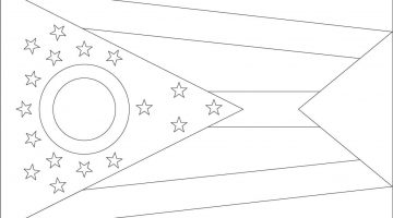 Georgia State Flag Coloring Pages