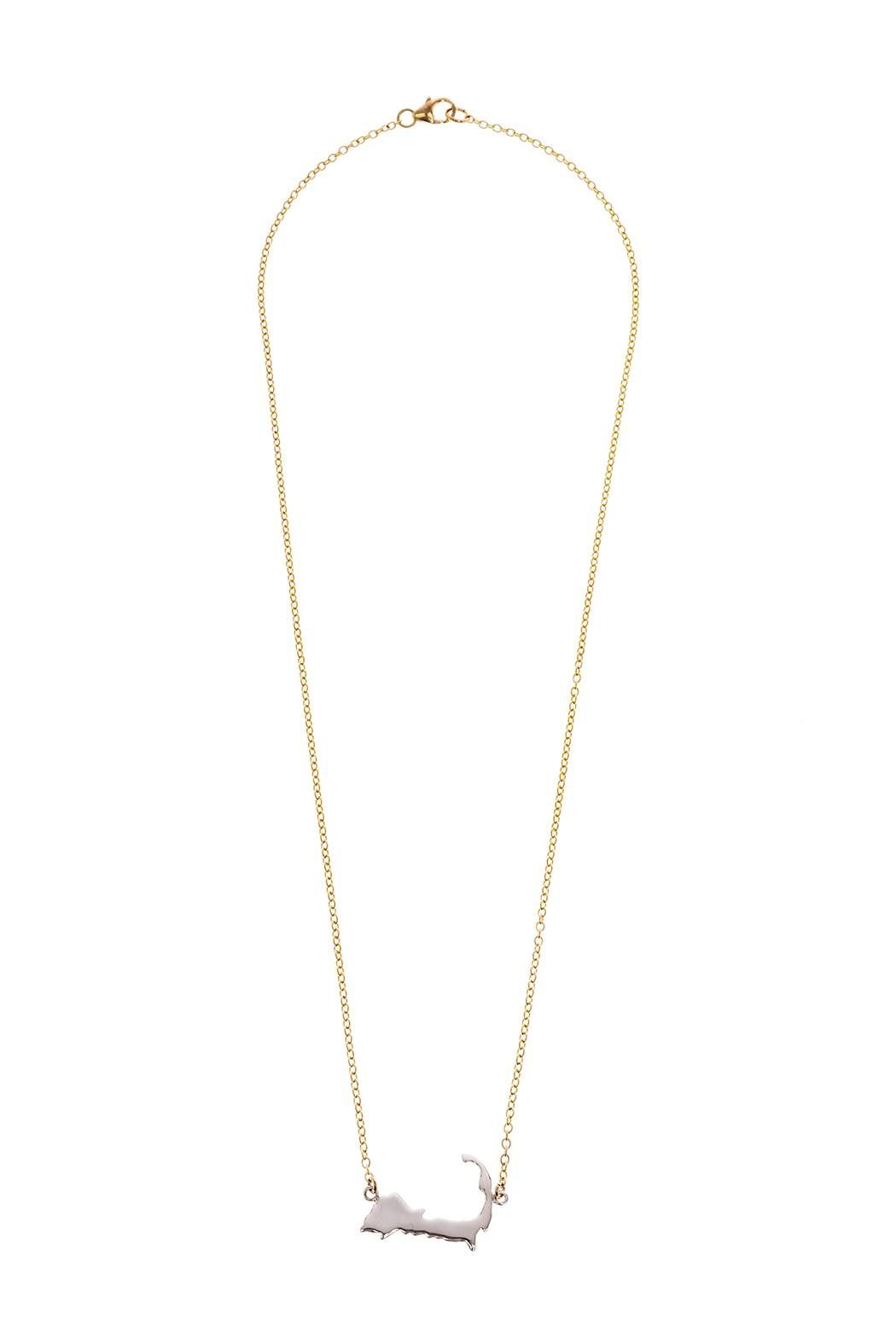 Jewelry Studio Of Wellfleet Two Toned Silhouette Necklace