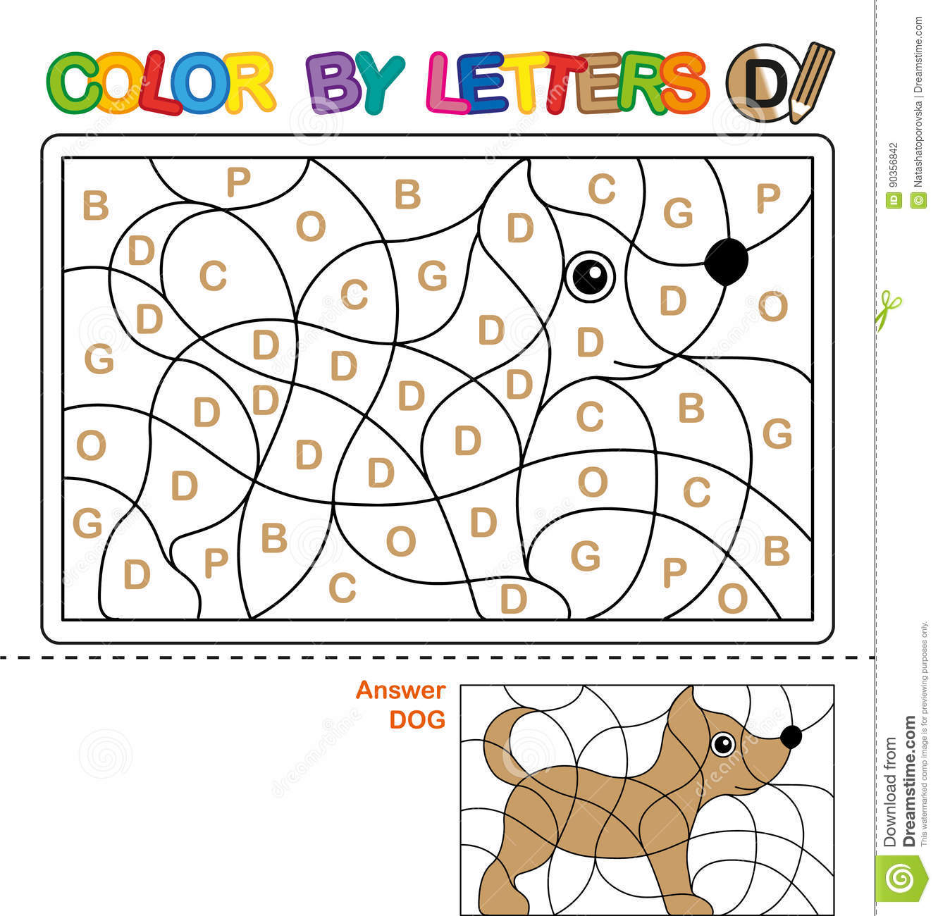 Abc Coloring Book For Children  Color By Letters  Learning The