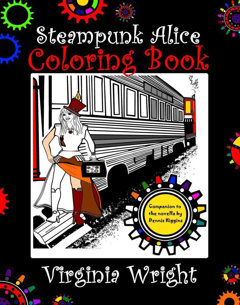 Steampunk Alice Coloring Book Release
