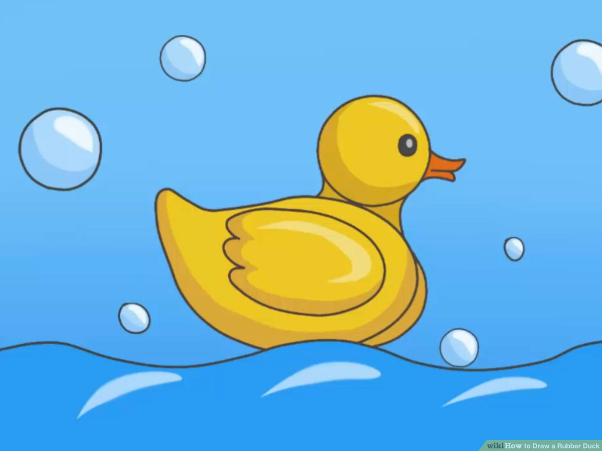 How To Draw A Rubber Duck  7 Steps (with Pictures)