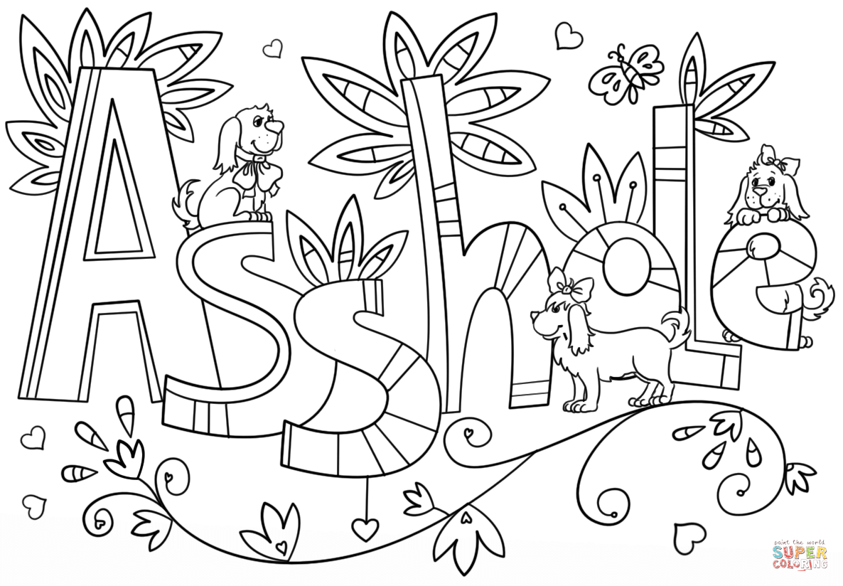 Asshole Coloring Page