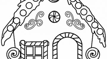 Gingerbread House Coloring Template