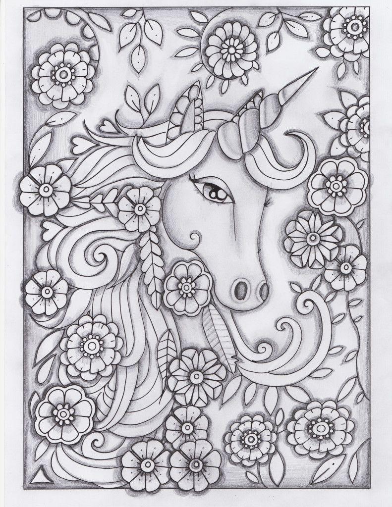 Unicorn Greyscale Drawing Unedited