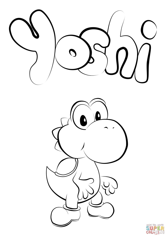 Baby Yoshi Coloring Page