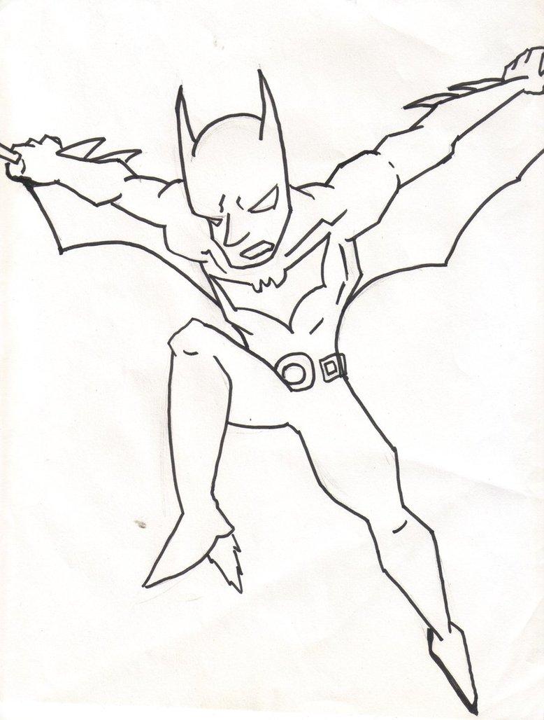 Batman Beyond Coloring Page  964 Batman Beyond Coloring Pages