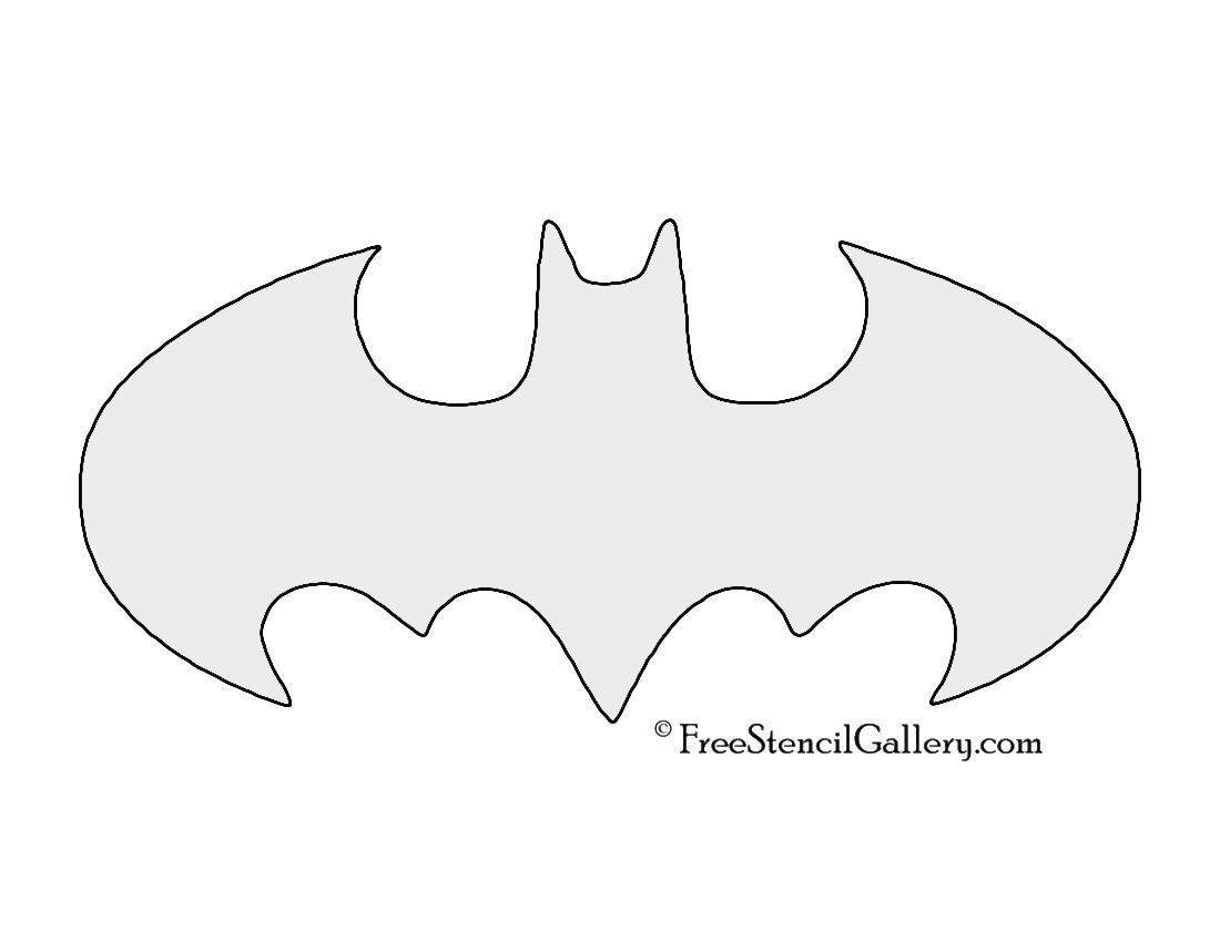 Batman Symbol Stencil