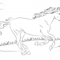 Horse Trailer Coloring Pages