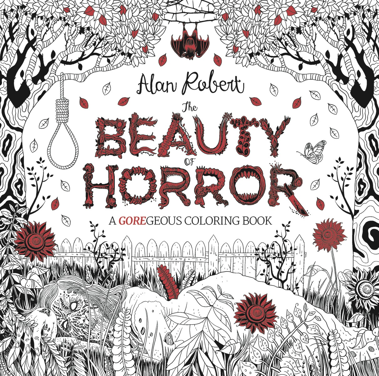 The Beauty Of Horror Coloring Book Cover