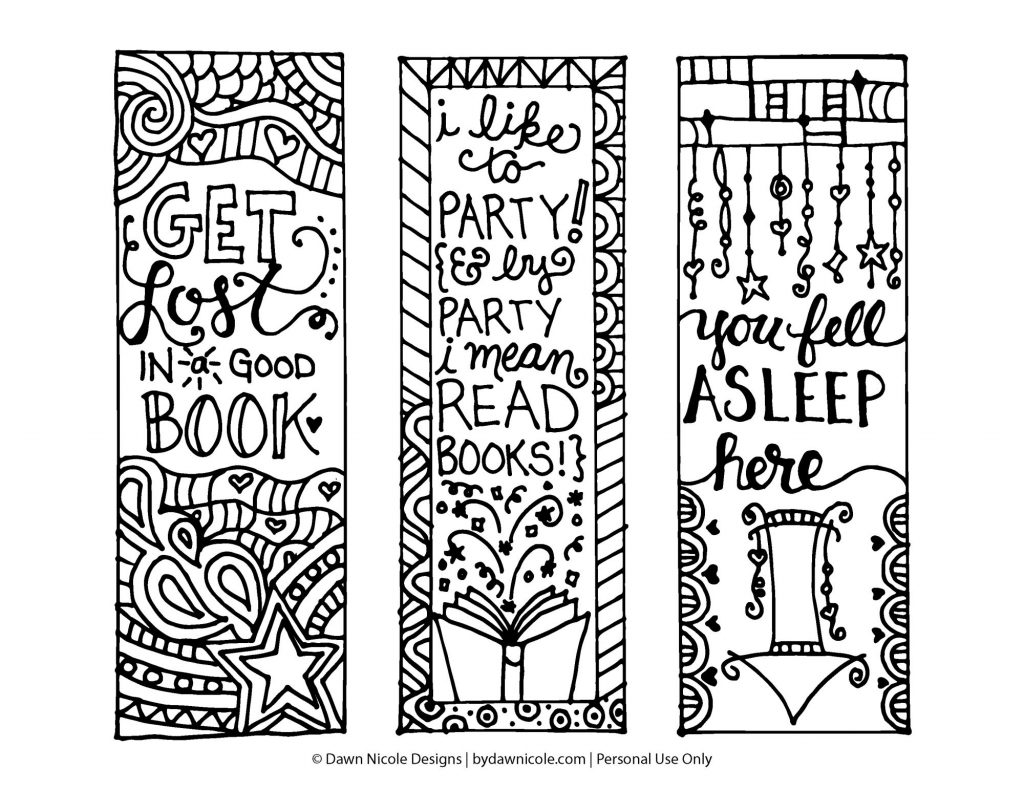 Coloring Pages ~ Bookmarks Coloring Page Hiresprintable