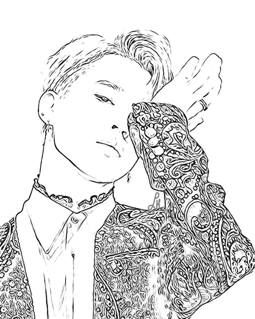 11 Bts Drawing Page For Free Download On Ayoqq Org