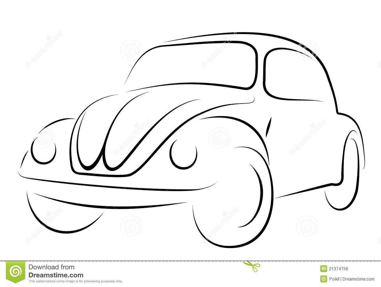 Car Volkswagen Beetle Stock Vector  Illustration Of Motorized