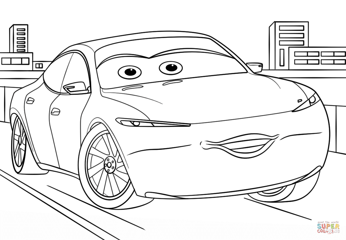 Cars 3 Coloring Pages Natalie Certain From Page Free Printable