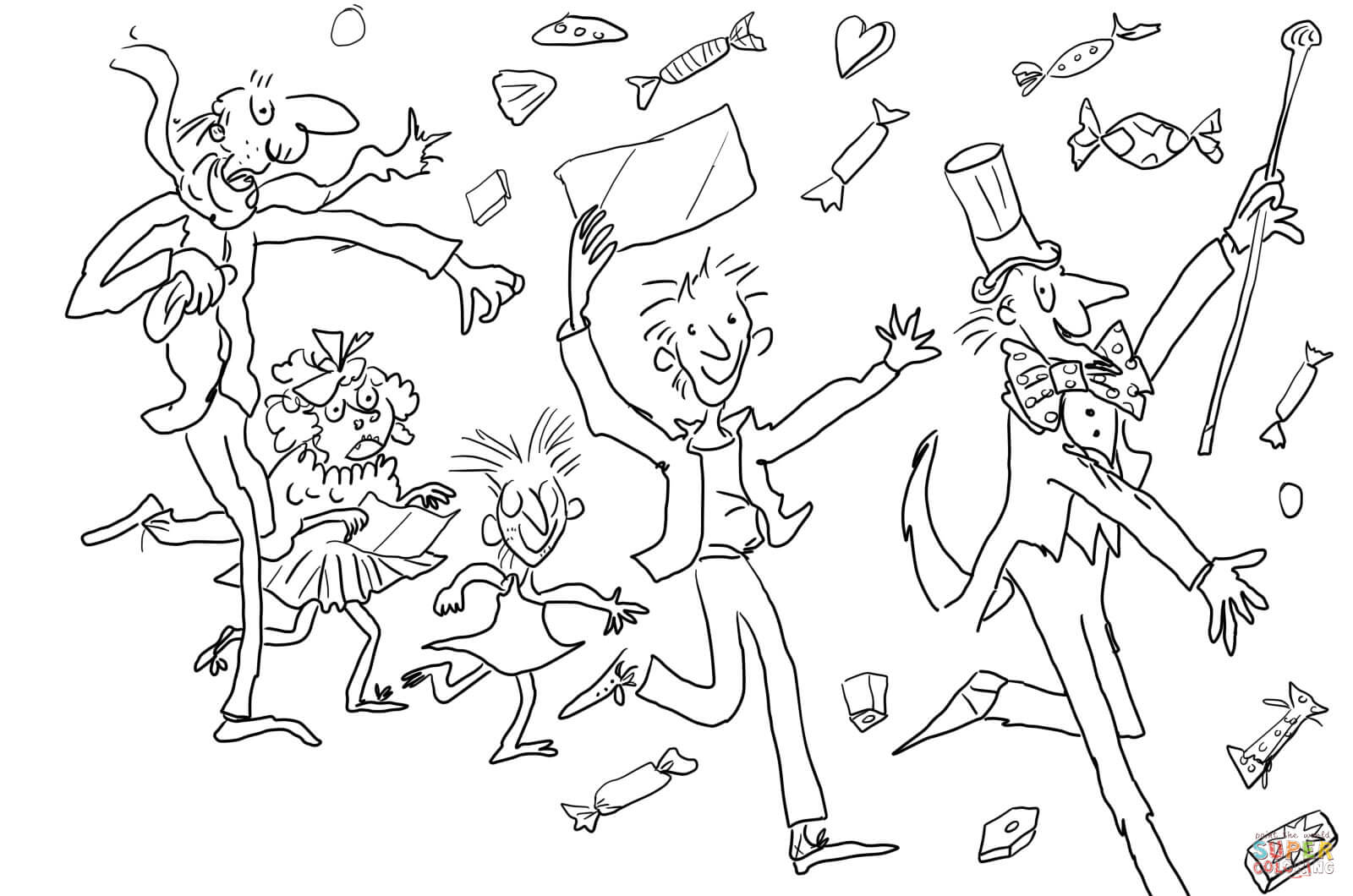 Charlie And The Chocolate Factory Coloring Page