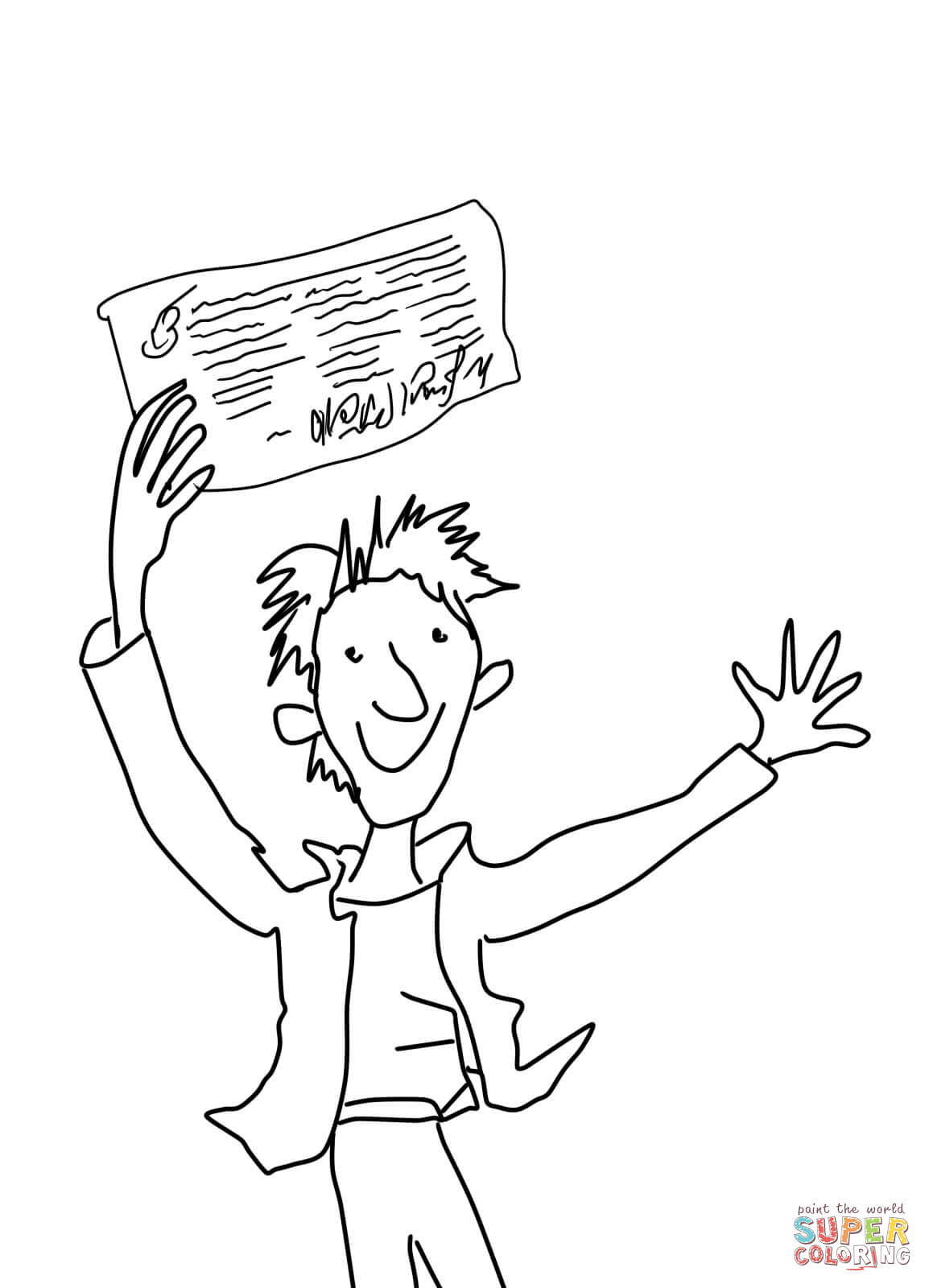 Charlie Bucket Coloring Page