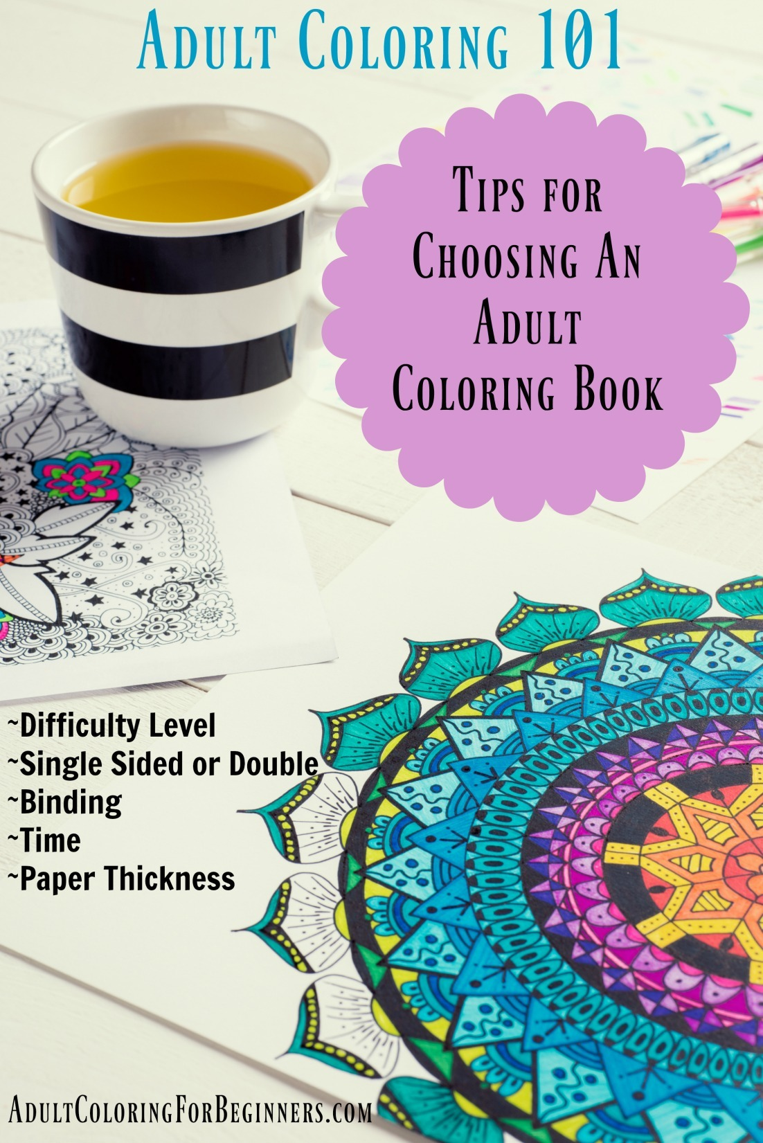 Adult Coloring 101  Choosing An Adult Coloring Book