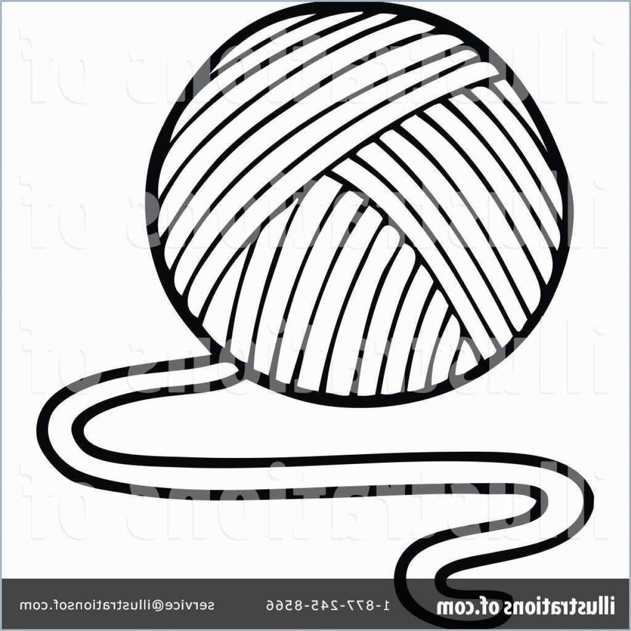 Coloring Book Yarns Marvelous Vector Illustration Outline Drawing