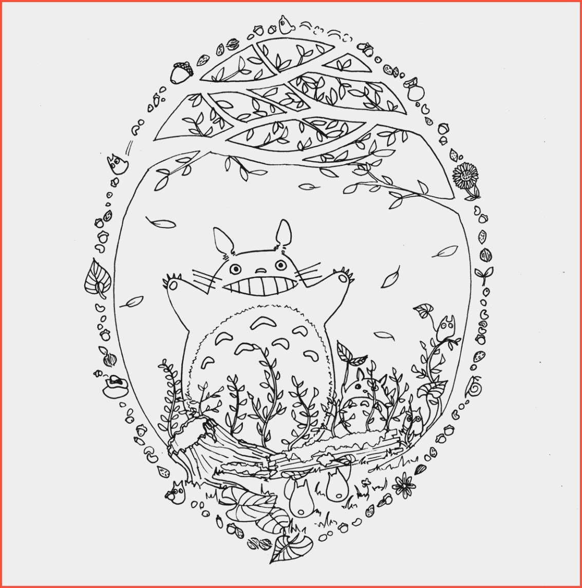Totoro Coloring Page