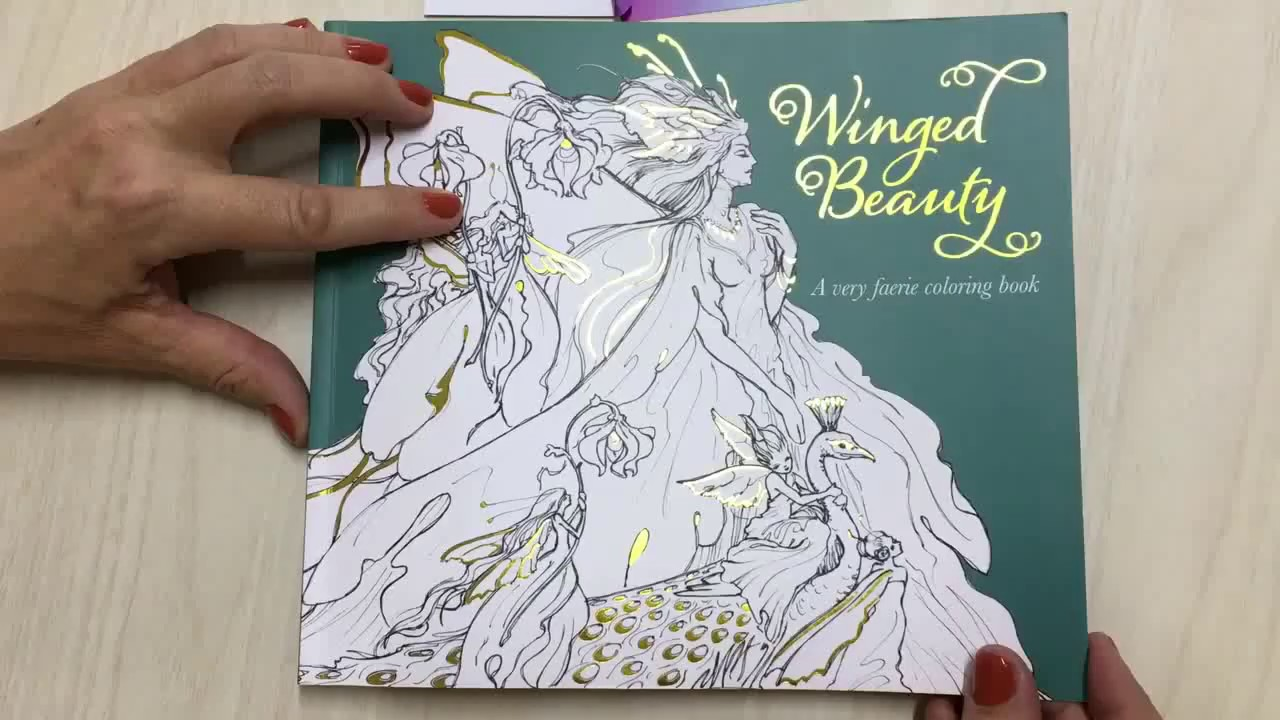 Coloring Page ~ Coloring Page Fantastic Beauty Book Winged Youtube