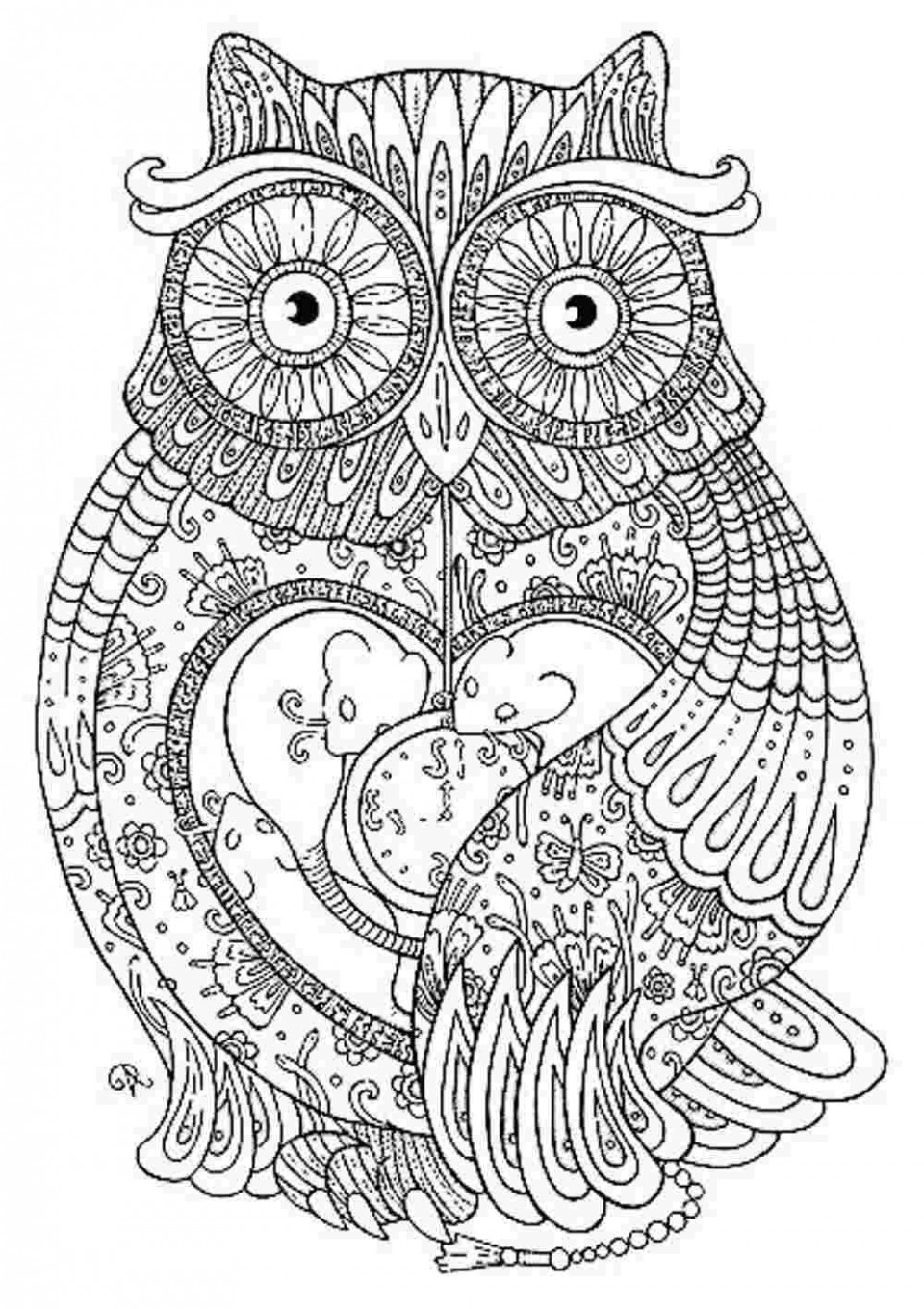 Coloring Page ~ Coloring Page Hard Pages Freeimal Mandala Tod