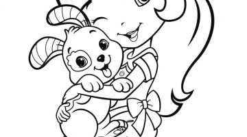 Strawberry Shortcake Halloween Coloring Pages