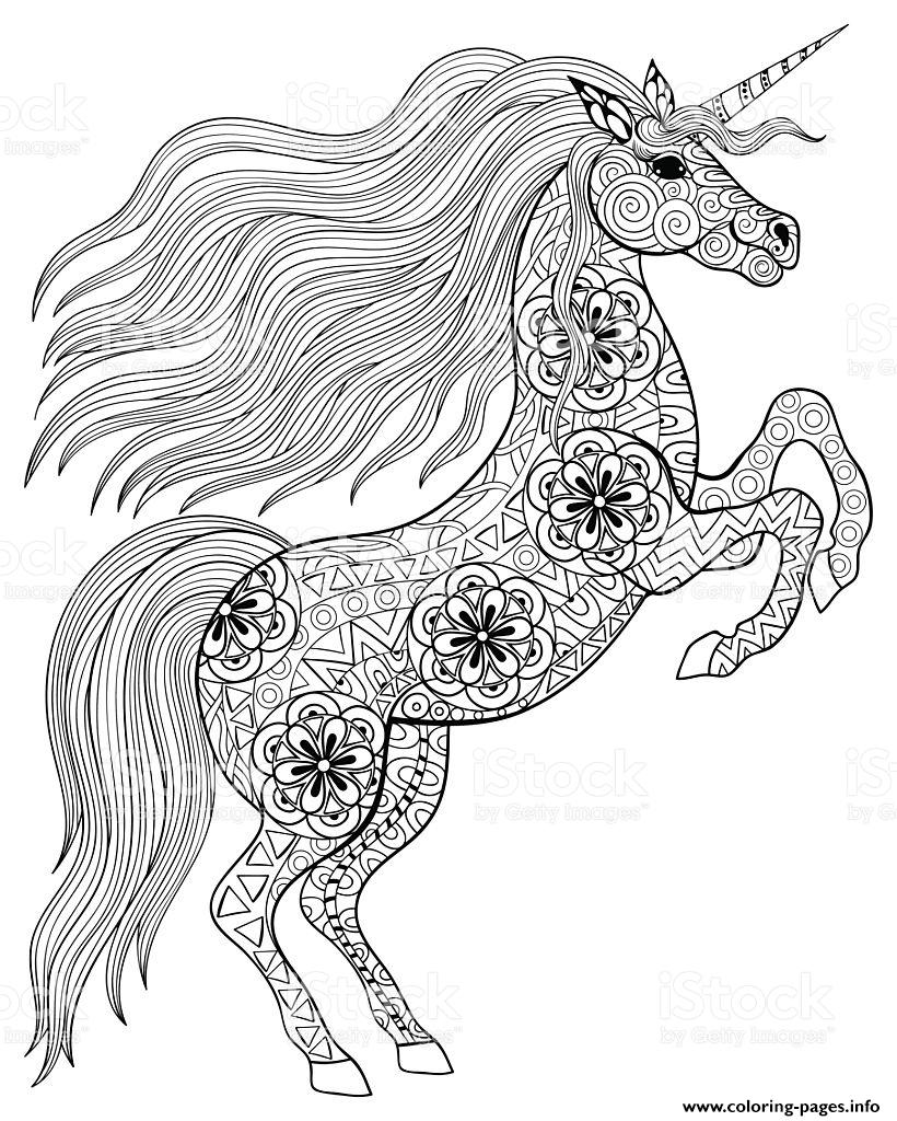 Coloring Page ~ Coloring Page Unicorn Pages For Adults Adult