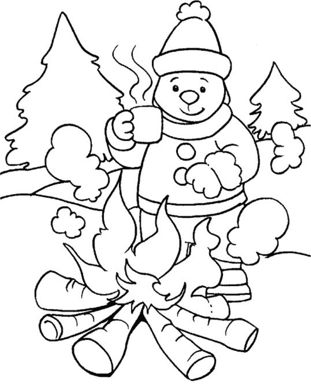 Winter Wonderland Coloring Pages - NEO Coloring