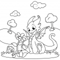 Coloring Pages Of Dragon Tales