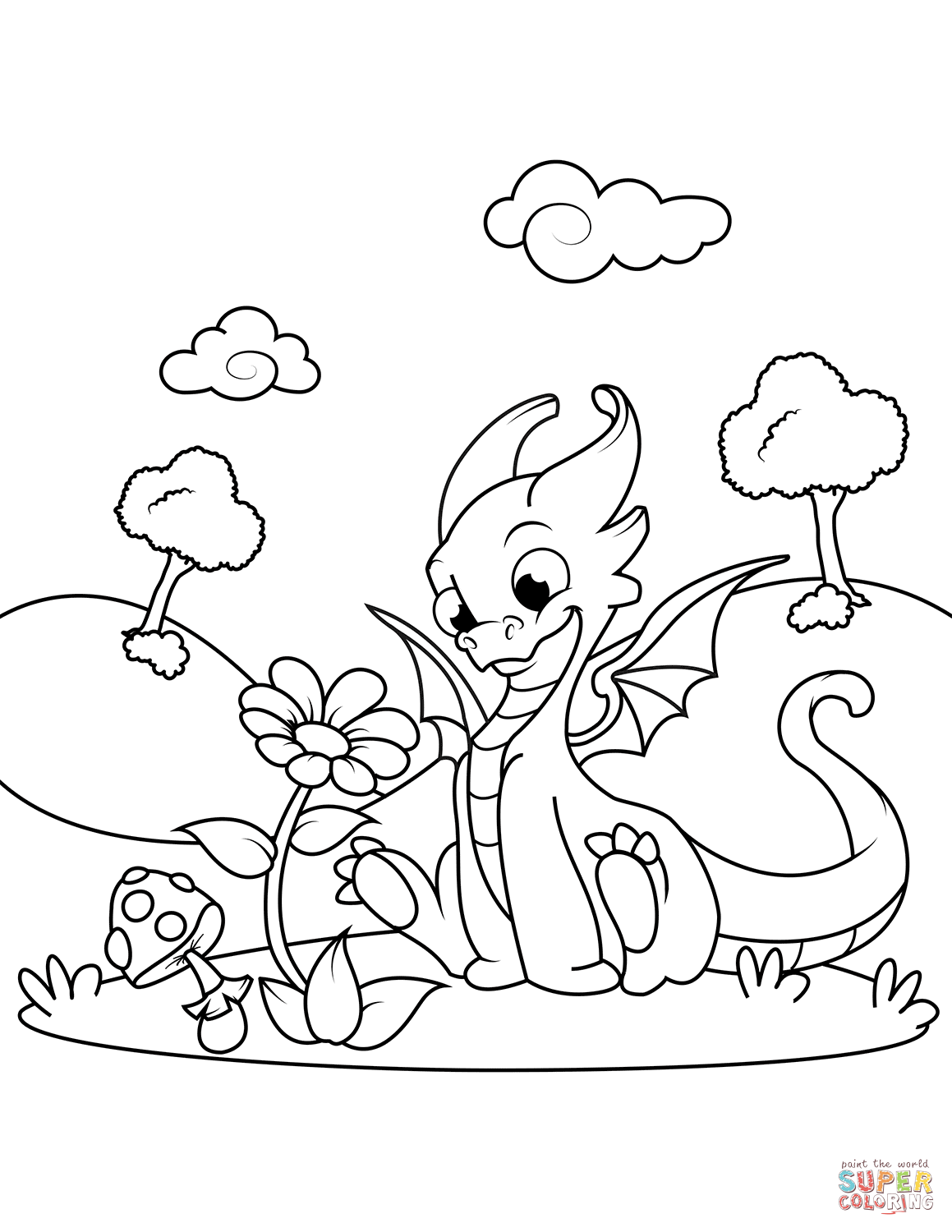 Coloring Pages Dragon Wings Of Fire Sandwing Page Free Printable