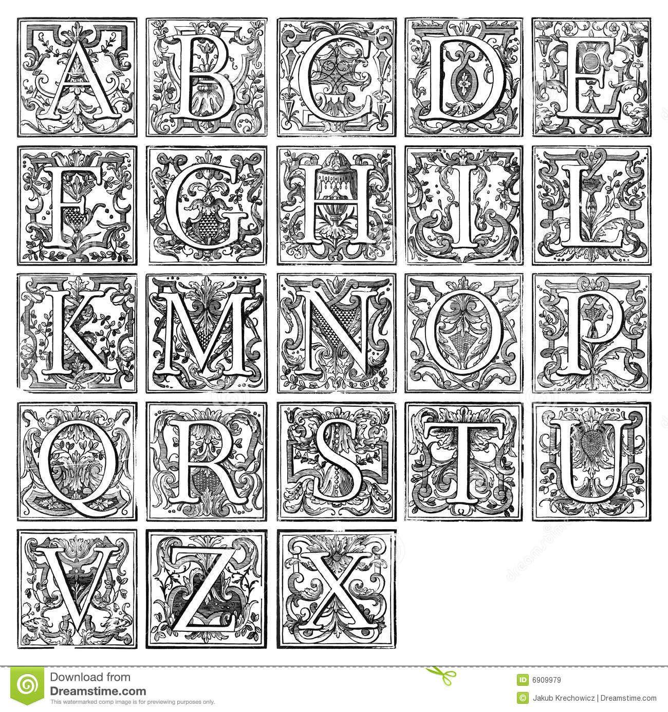 Illuminated Manuscript Letters T Illuminated Manuscript Letter