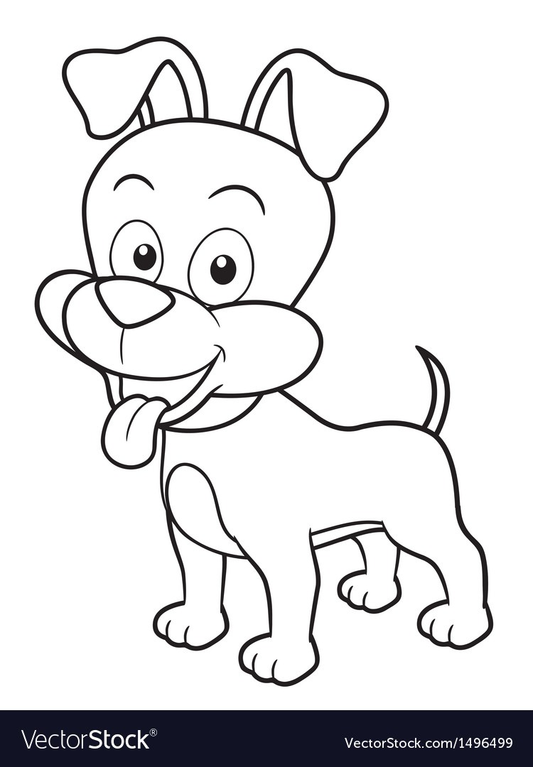 Dog Outline Royalty Free Vector Image