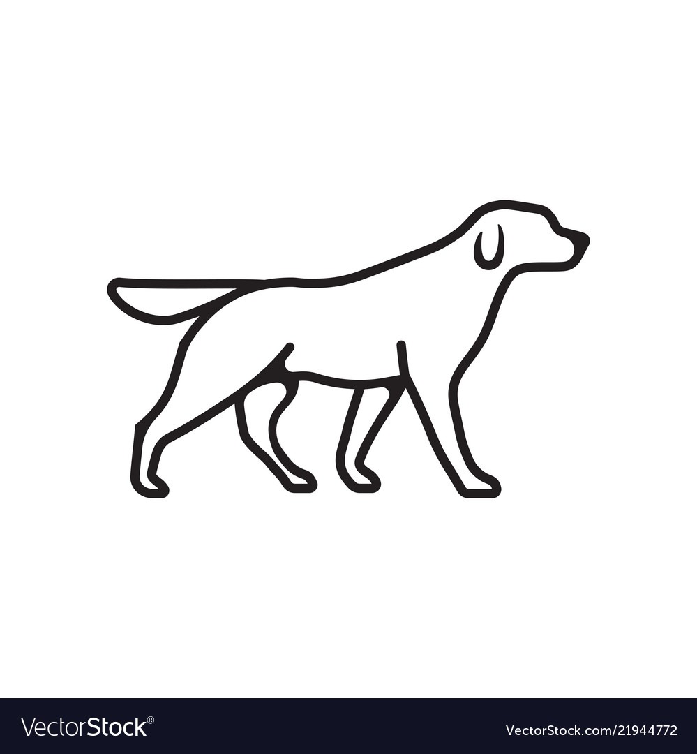 Dog Pet Outline Icon Royalty Free Vector Image