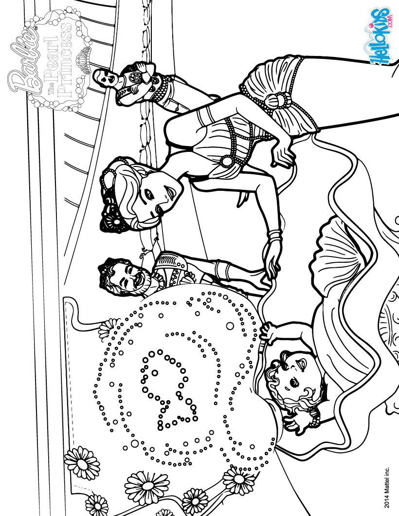 Barbie The Pearl Princess Coloring Pages