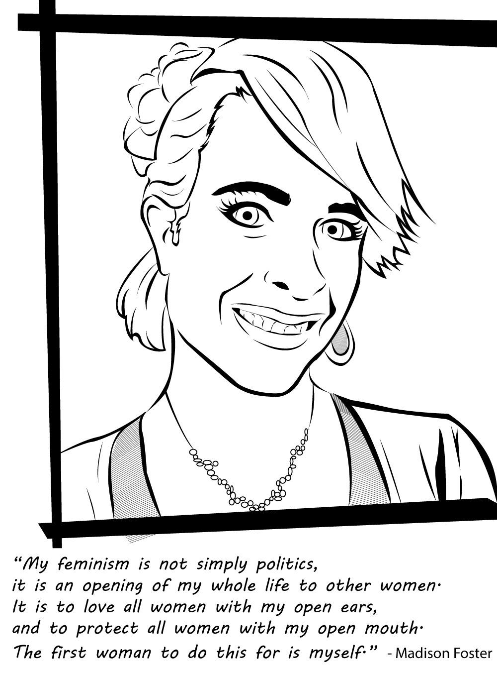 Badass Feminist Coloring Book  By Feminist Writer Ijeoma Oluo